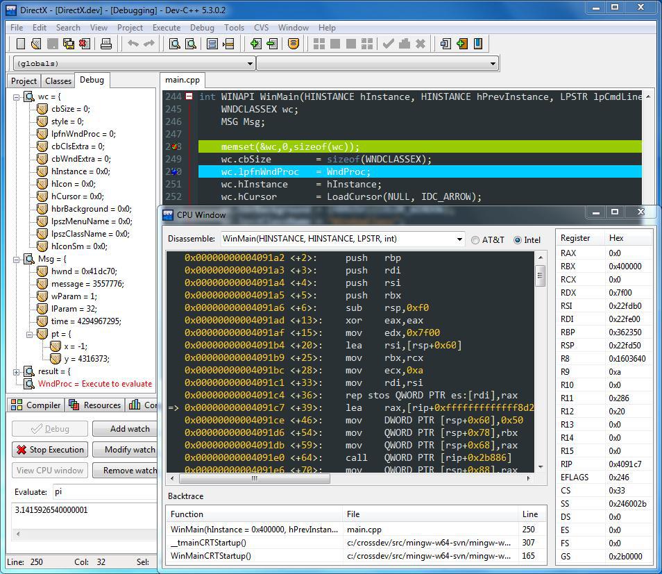 Легкая среда разработки программ на c
